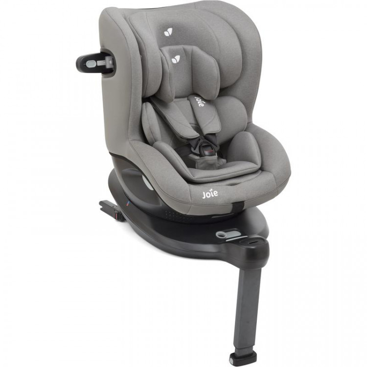 Ispinjoie i spin 360 car seat grey fannel 750x750 - JOIE i-SPIN 40-105 cm 0-19 kg Obrotowy RWF kolor Signature Noir